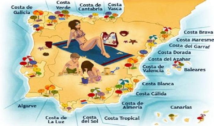 Spagna Costa Brava Cartina.Coste Della Spagna Hotelspagna Net