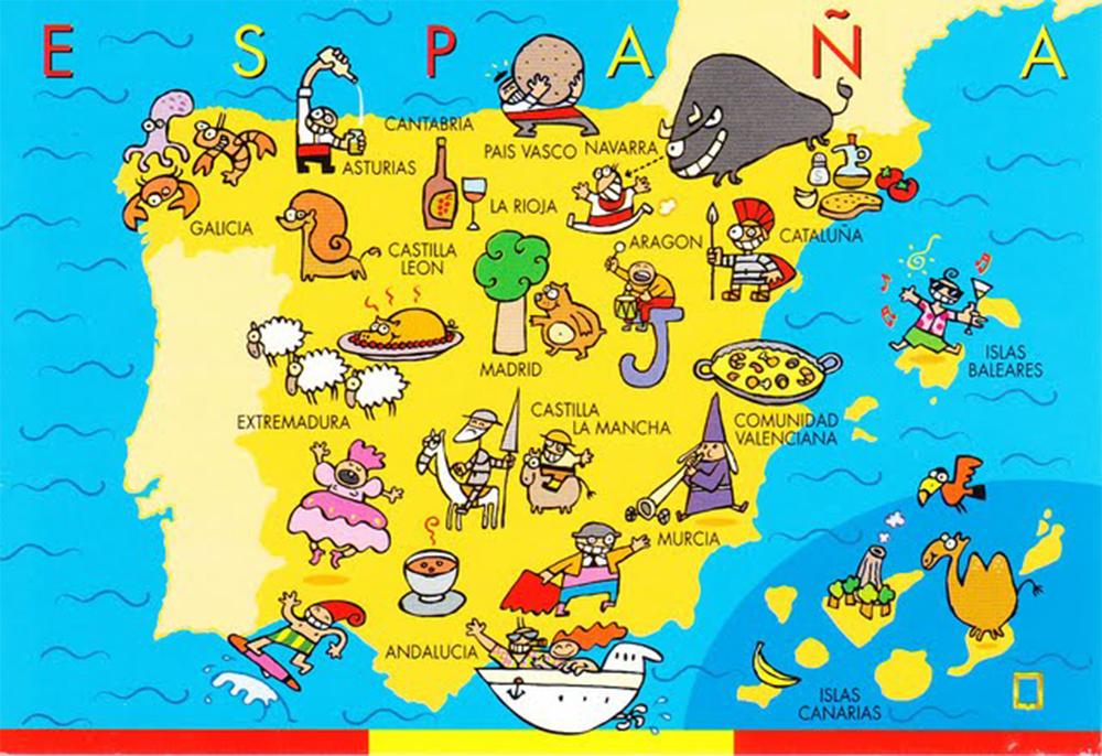 La Spagna Cartina.Le 17 Regioni Della Spagna Hotelspagna Net