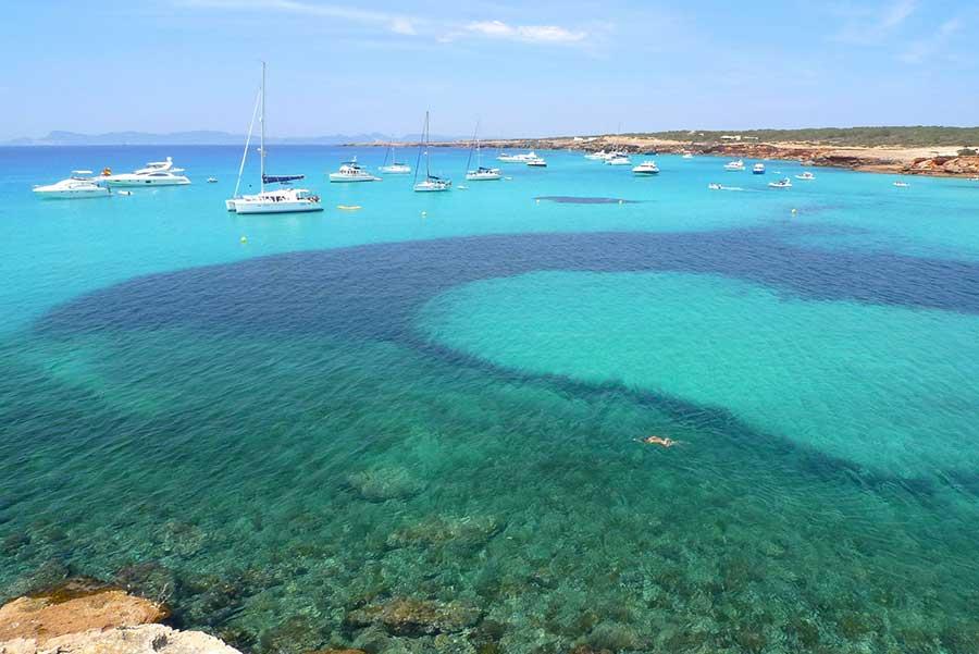Spiaggia Fotomurali Isola di Formentera Carta Da Parati Camera da letto  soggiorno Photo Decor